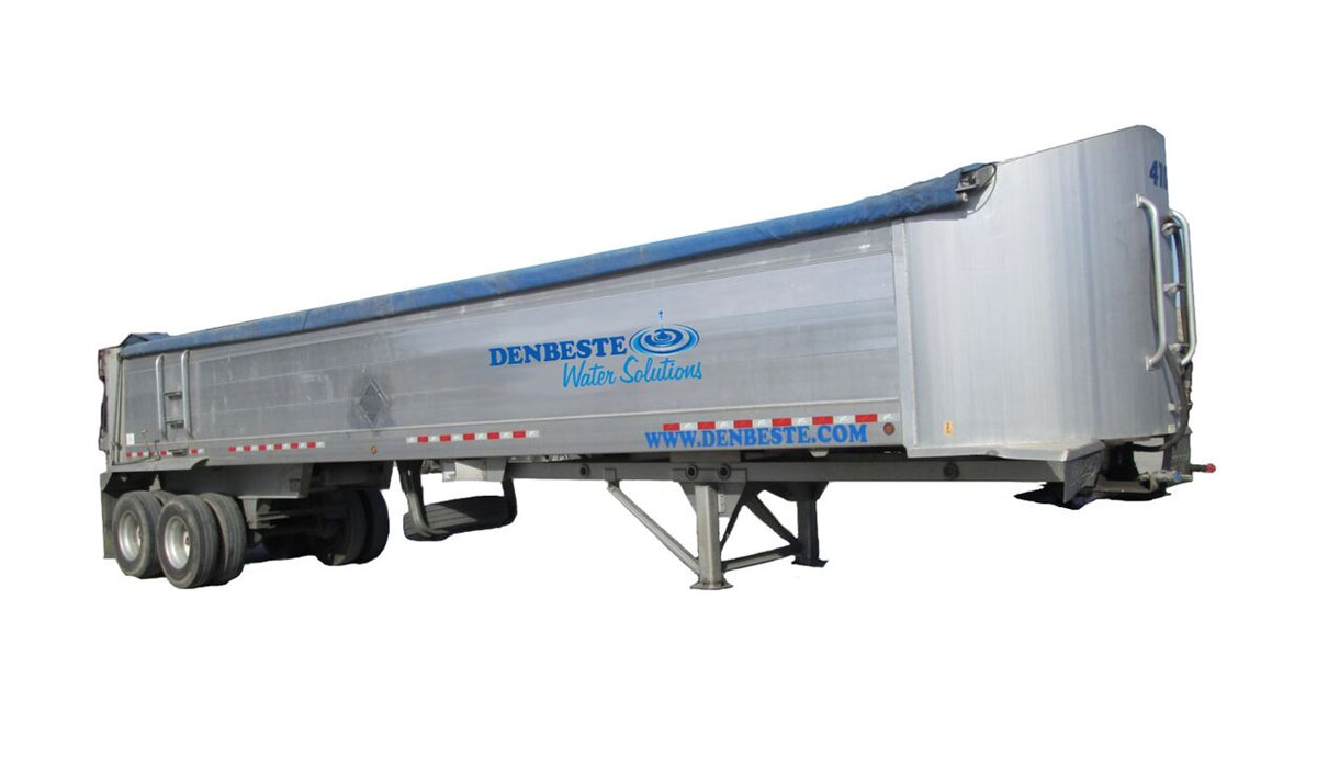 Rent end dump trailers from DenBeste environmental equipment.